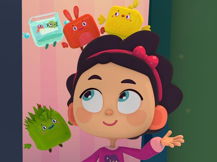 Кадры из мультфильма «Четверо в кубе»