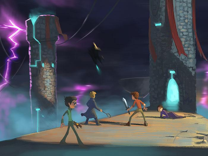 Concept art from 'Heroes of Envell' cartoon