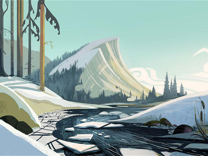 Concept art from 'Leo and Tig' cartoon