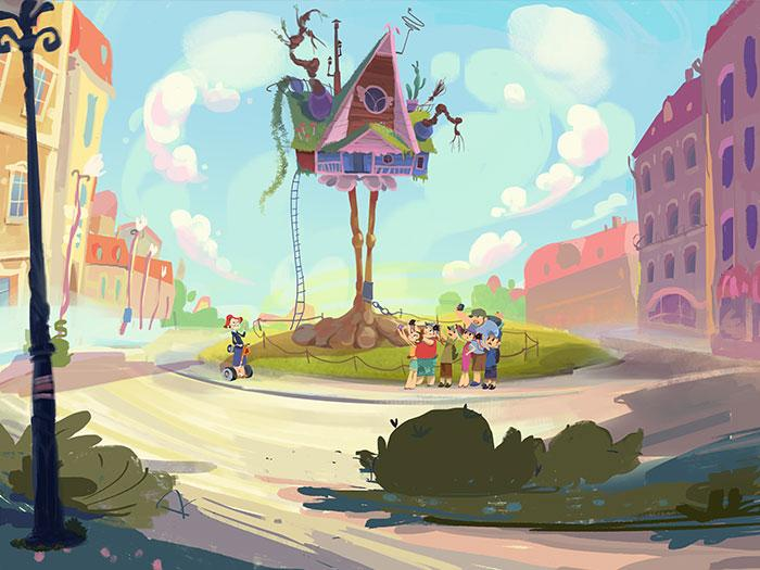 Concept Art from 'Fantasy patrol' cartoon