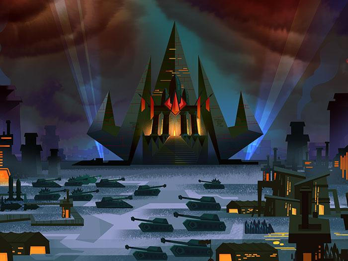 Concept art from 'F.a.s.t' cartoon