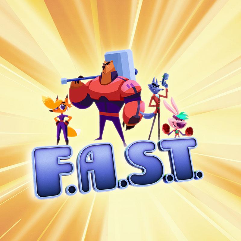 'Fast' cartoon poster