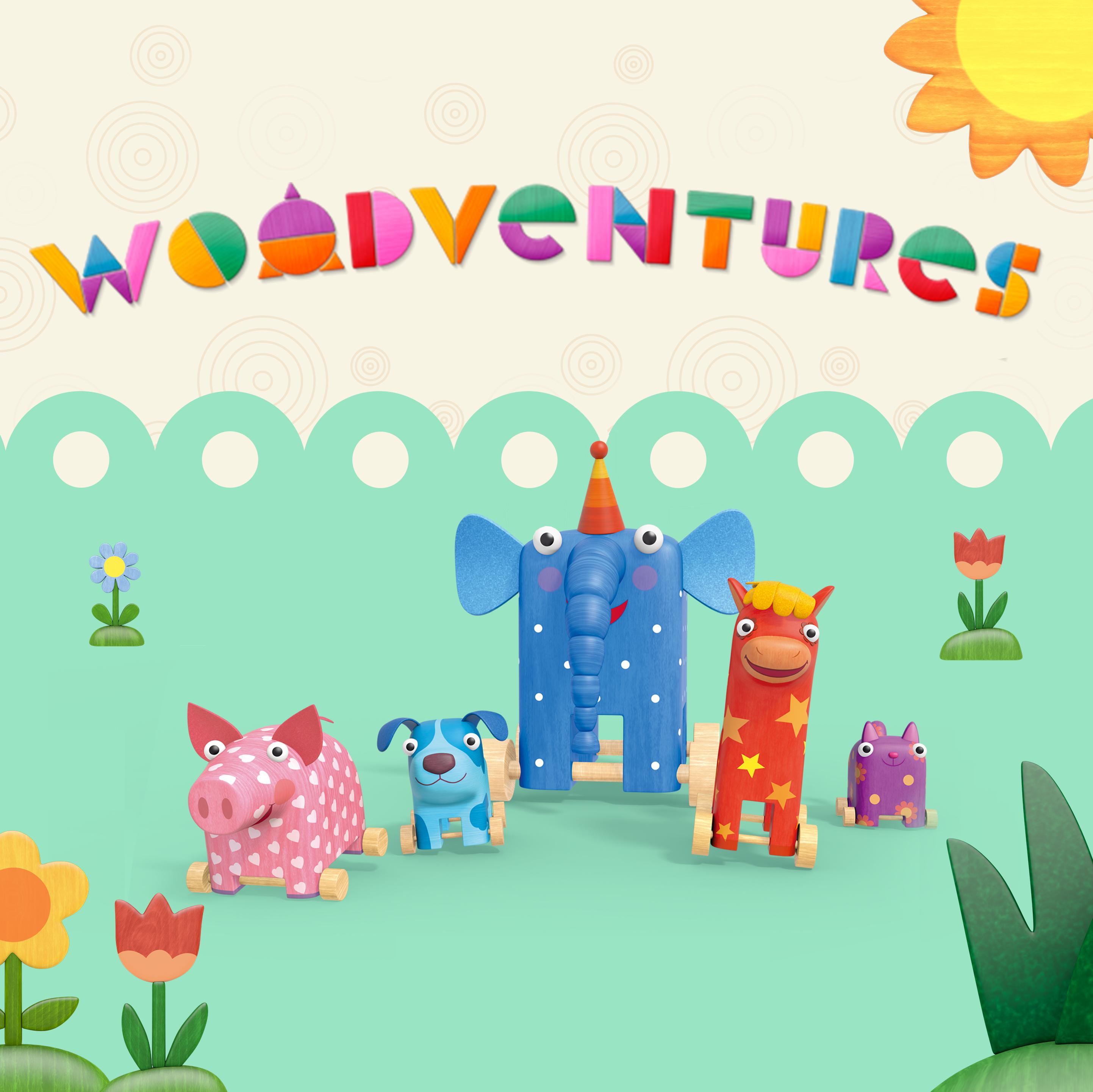 'Woodventures' cartoon poster