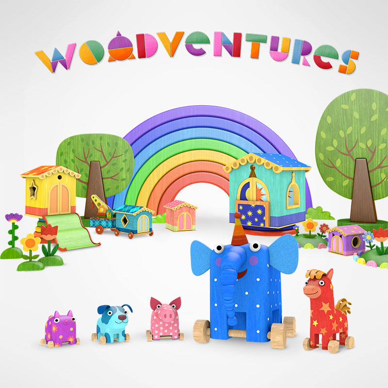 'Woodventures' cartoon poster